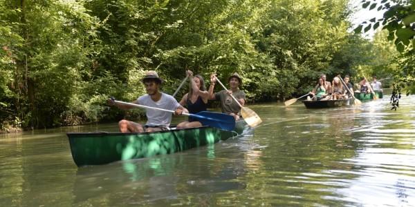 Promenade en barque et canoé à St Hilaire La Palud ©DARRI